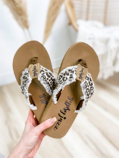 Cream Leopard Flip Flop