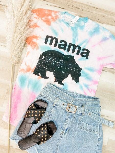 Mama Bear Tie Dye Graphic Tee