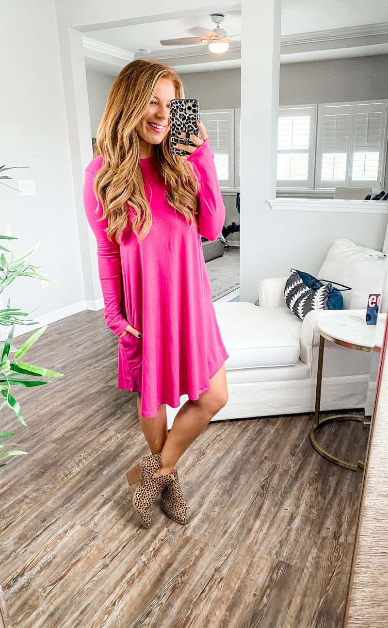 Twirl Around Long Sleeve Dress