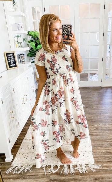 Into The Garden Floral Midi Dress