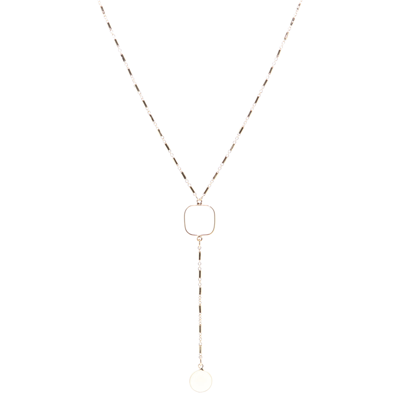 Star Crossed Lover Opal Gold Necklace