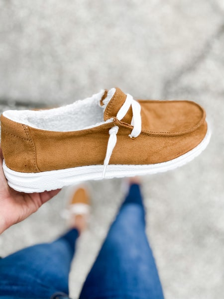 Tan Suede Slip On Shoe