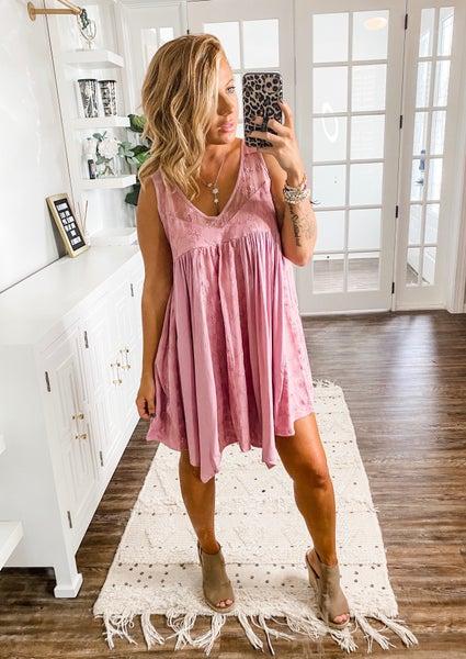 Like A Dream Lace Mauve Dress