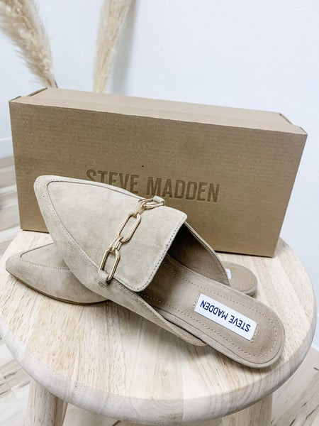 Steve Madden Tan Suede Pointed Loafers