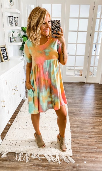Say Your Peace Tie-Dye Dress