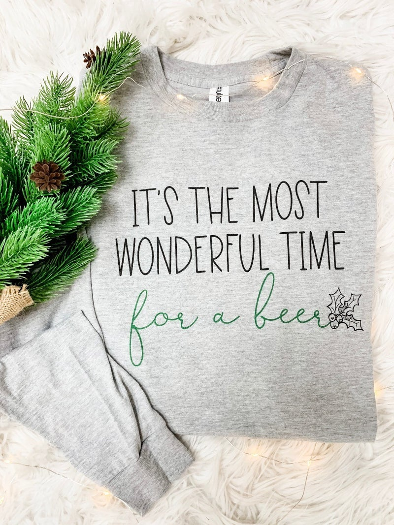 Wonderful Time For A Beer Long Sleeve Graphic Tee