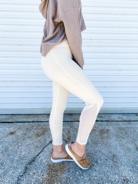 Kick It With Me Natural High Rise Leggings