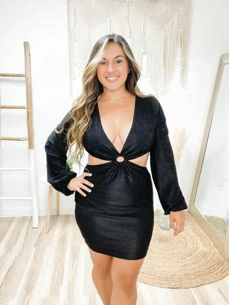 A Night To Remember Black Cut Out Dress