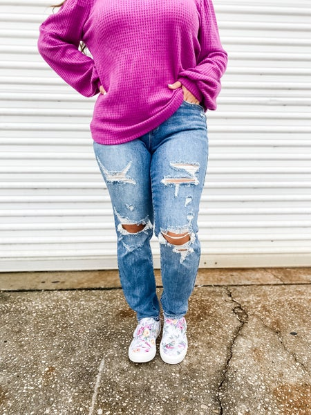 The Complete Package Distressed Boyfriend Judy Blue Jeans