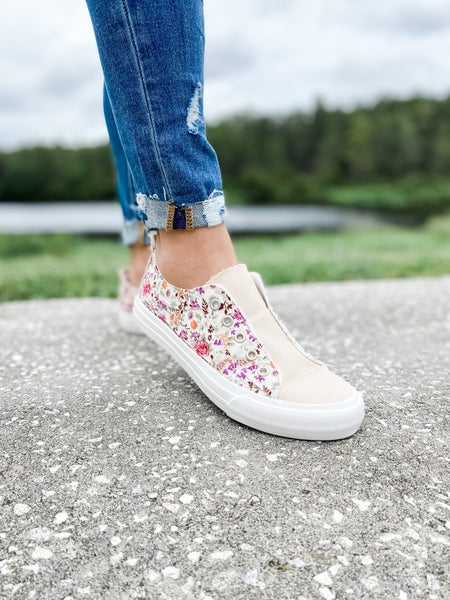 Pink Floral Double Sided Slip On Shoe