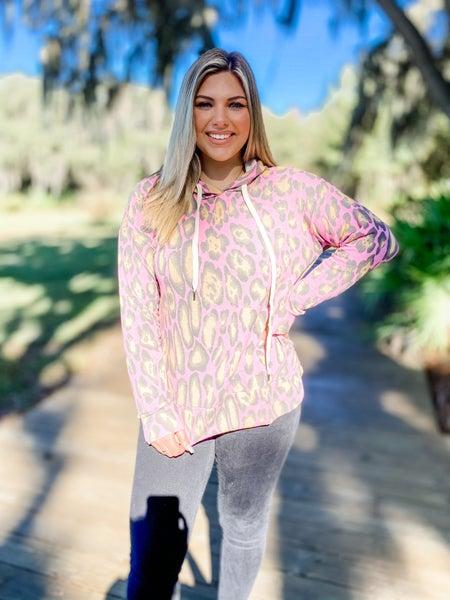 In My Memory Pink Leopard Hoodie