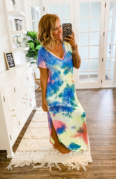Get Your Attention Tie-Dye Maxi Dress