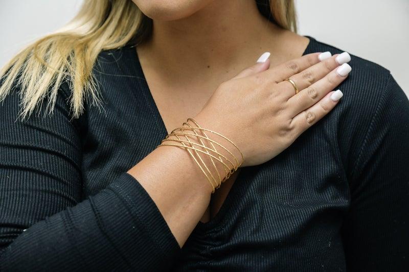 Gold Criss Cross Cuff