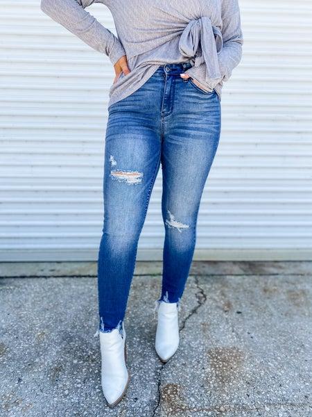 Date Night With Hem Hi-Rise Judy Blue Jeans