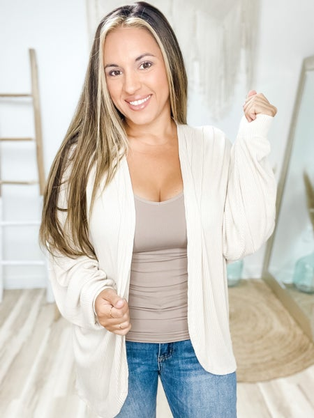 Keep It Authentic Oatmeal Cardigan