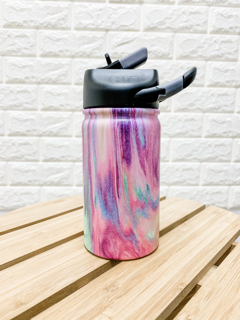 12 oz Cotton Candy Stainless Steel Kids Water Bottle