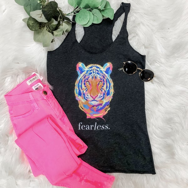 FEARLESS TIGER GRAPHIC TANK