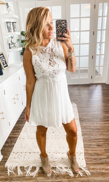 Addicted To Love White Lace Dress
