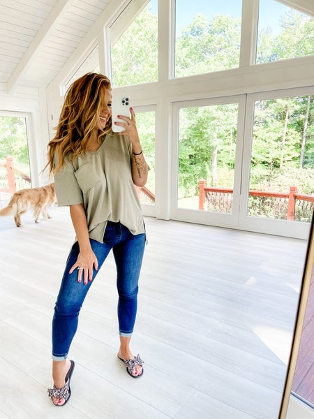 Simply Me Olive Pocket Top