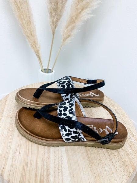 Cow Print Sandal