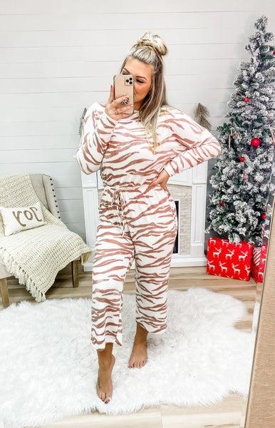 Keeping It Wild Coral Zebra Print Jumpsuit