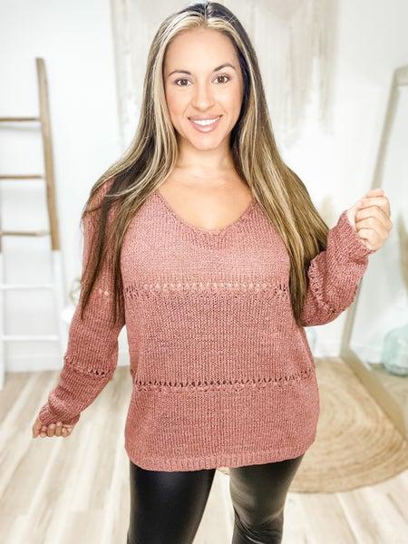 Falls Favorite Girl Red Bean Sweater