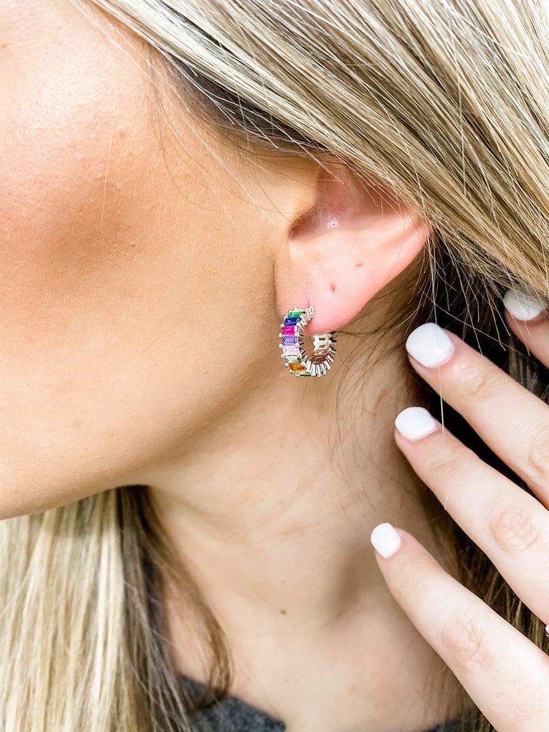 Ear Candy Bagguette Hoops