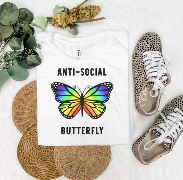 Anti-Social Butterfly Graphic Tee