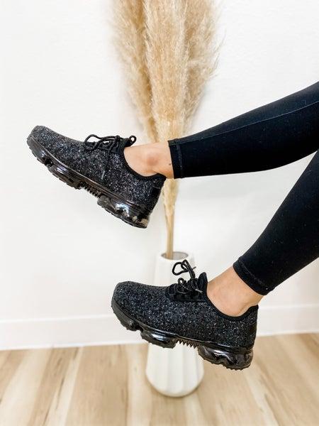 Glittery Black Sneakers
