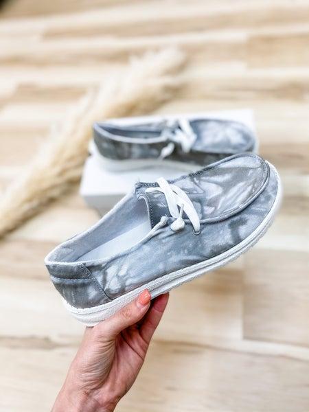 Grey Marble Slip On Shoe