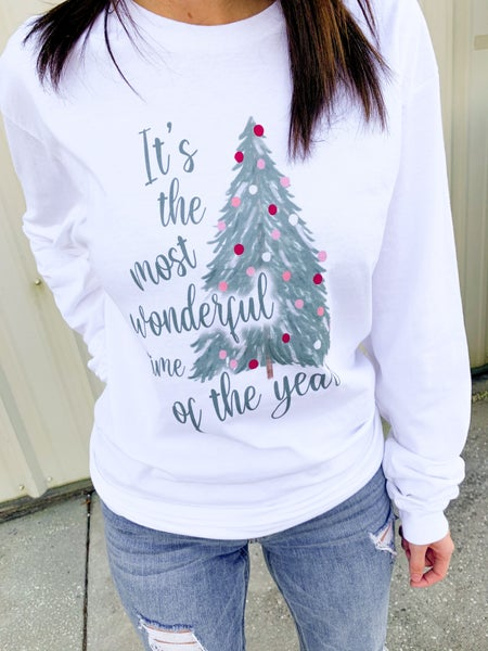 Most Wonderful Time Of The Year Long Sleeve Graphic Tee