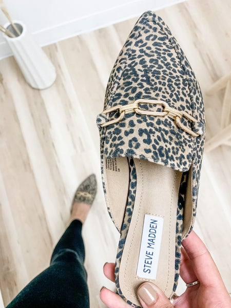 Steve Madden Leopard Pointed Loafers