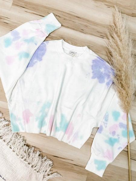 Mix In My Love Tie Dye Cropped Sweatshirt
