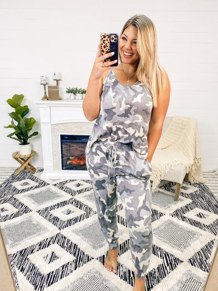 Grab Your Attention Grey Camo Complete Lounge Set