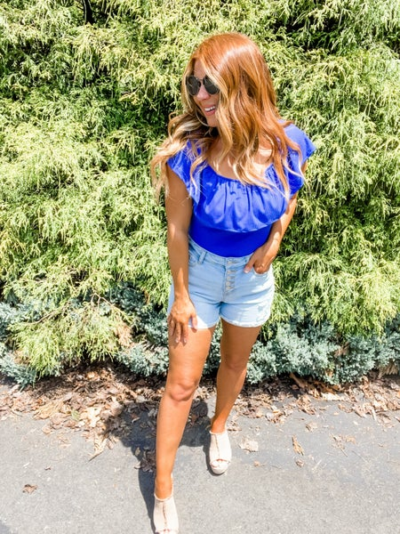 Fine By Me Buttonfly Cuffed Judy Blue Shorts