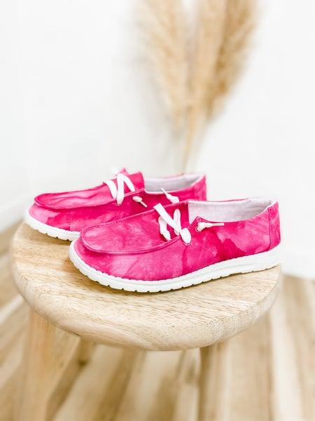 Pink Marble Slip On Shoe