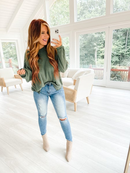 Call You Out Distressed High Rise Vintage Jeans