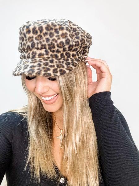 Leopard Baker Boy Hat