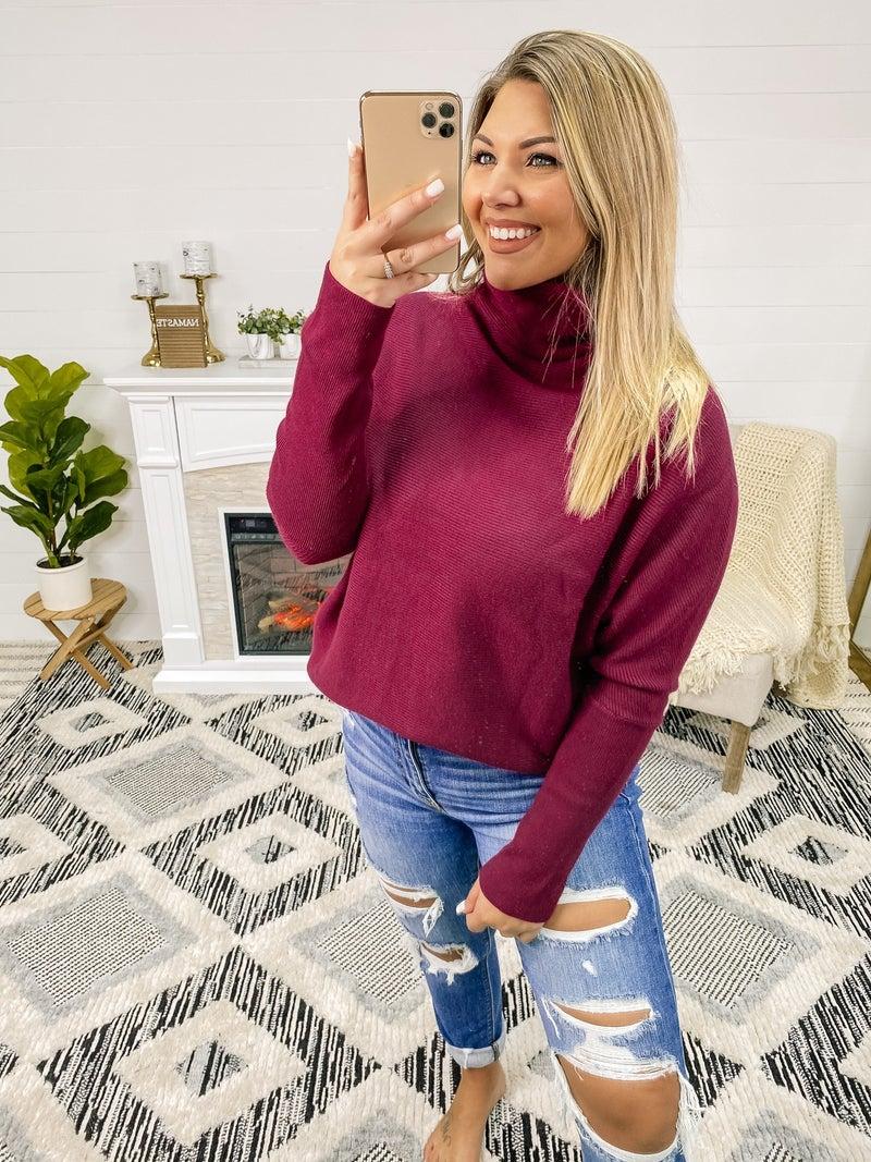 Sweet Spot Plum Tunic Sweater