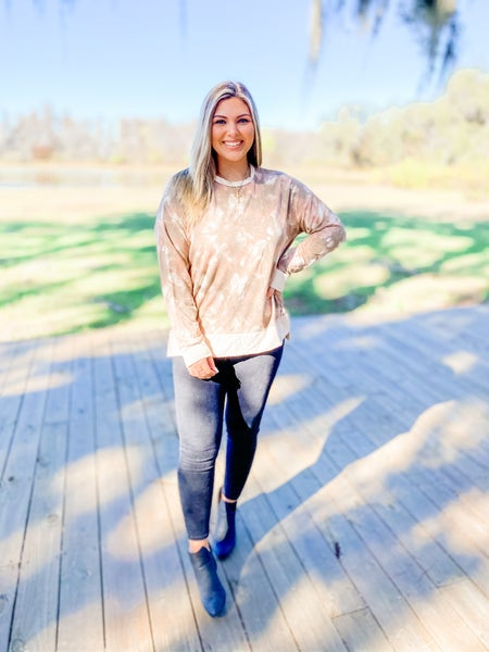 Set On You Blush Tie-Dye Sweater