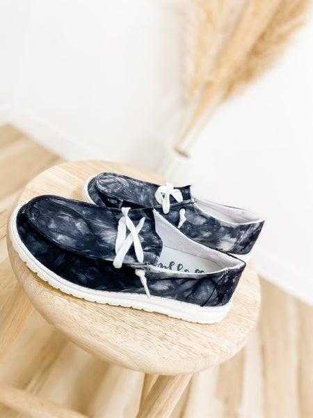 Black Marble Slip On Shoe