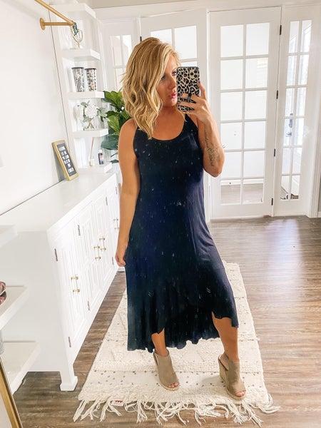 Mimosa Morning Black Maxi Dress
