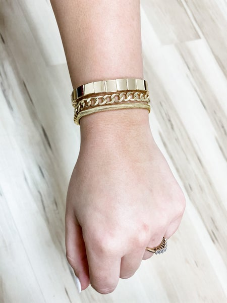 Chain Trio Bracelet Set