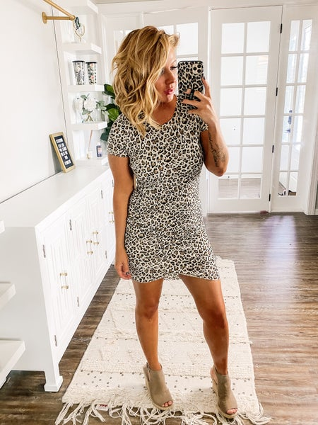 Can't Be Domesticated Leopard Print Dress