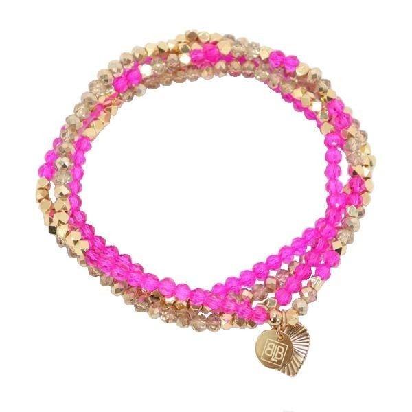Lila Babe Hot Pink Wrap Bracelet