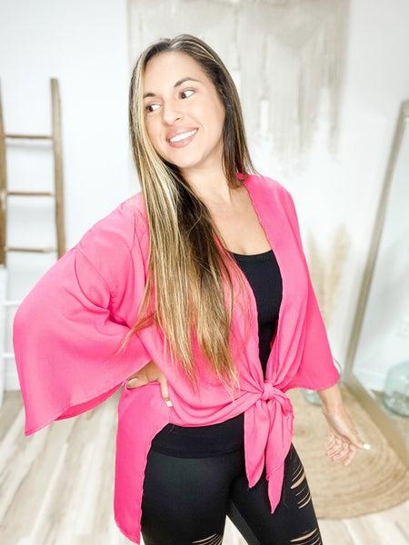 Stuck In My Ways Fuchsia Kimono