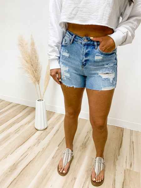Right Of Passage Distressed Judy Blue Shorts