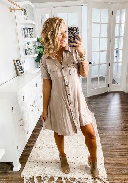 Safari Search Taupe Dress