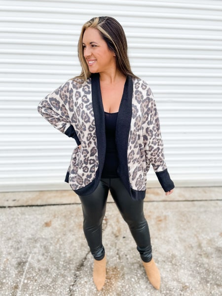 At Some Point Leopard Cardigan