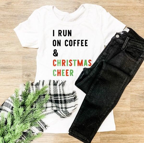 Coffee and Christmas Cheer graphic tee